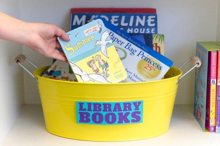 Panier pour les livres