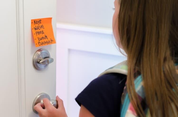 Petit mot sur la porte